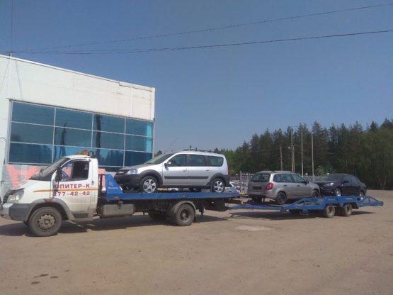 Эвакуаторы ВАЛДАЙ с прицепом на 2 автомобиля